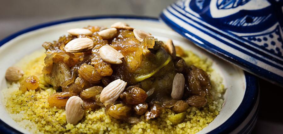 Cuscus de Pollo con cebolla caramelizada